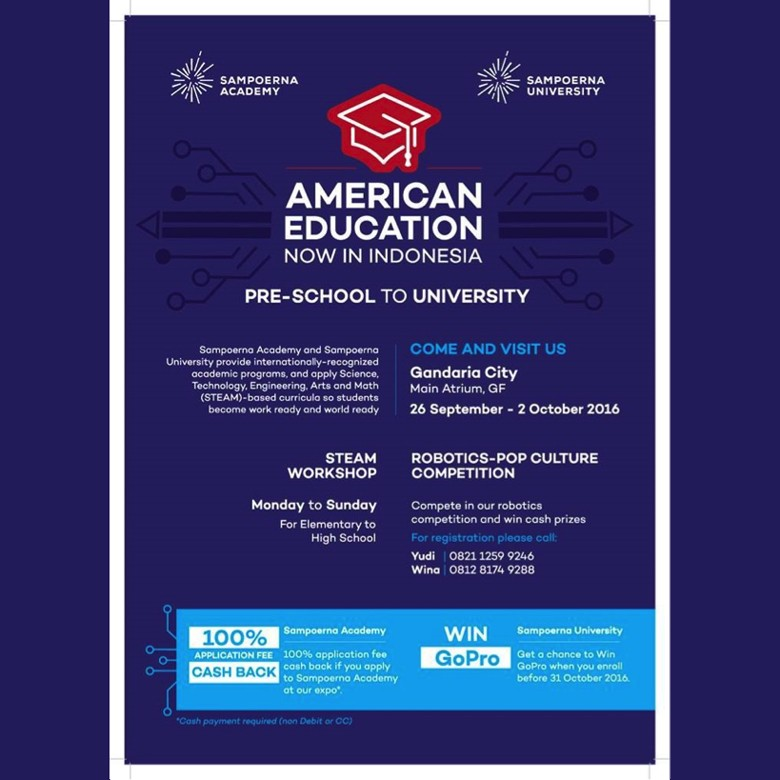 Sampoerna Academy & Sampoerna University Education Expo, Raih Gelar Sarjana Amerika di Indonesia!