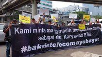 Mantan Karyawan BTel Kembali Demo Tuntut Cicilan Pesangon