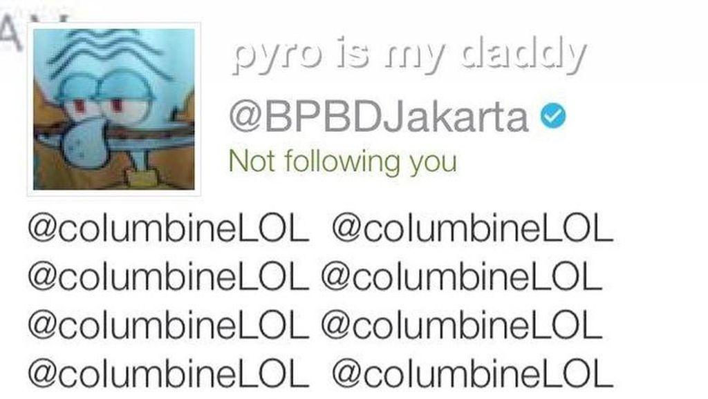 Akun Twitter BPBD DKI Jakarta Diusili, Squidward Muncul