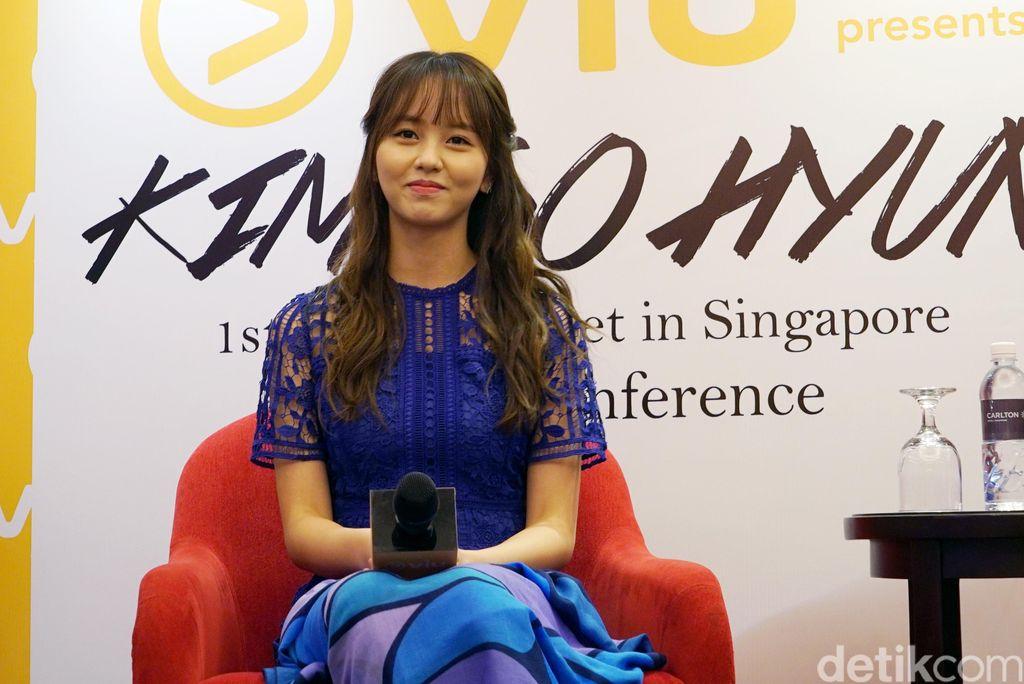 Kim So Hyun saat ditemui di Singapura