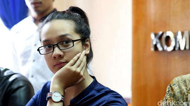 Anya Geraldine di KPAI (Foto: Ari Saputra/detikcom)