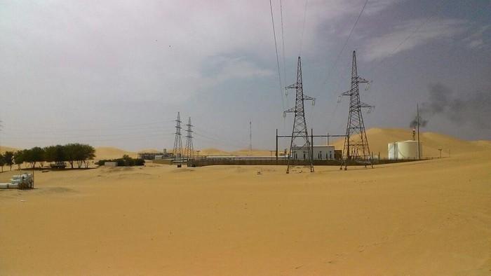 Lapangan minyak Pertamina di Gurun Sahara, Aljazair