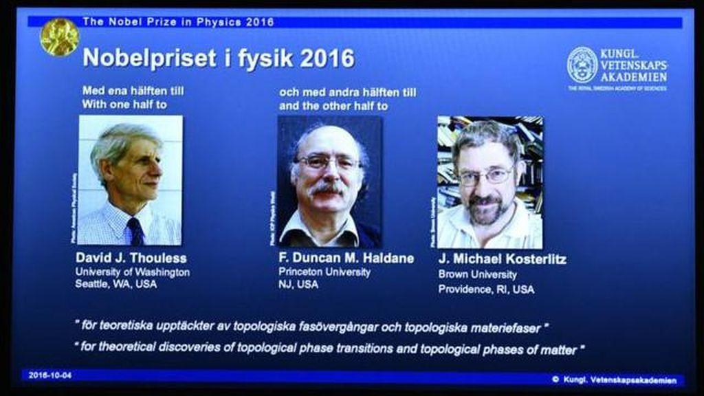Nobel Fisika Dianugerahkan pada 3 Ilmuwan Asal Inggris