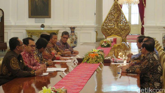 Foto: BPK lapor ke Jokowi/ Bagus detikcom