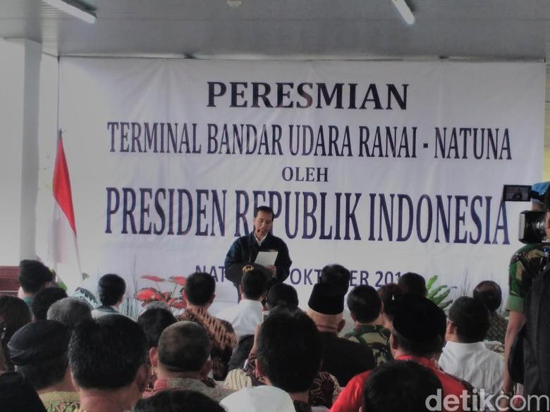 Presiden Jokowi Resmikan Terminal Bandara Ranai di Pulau Natuna