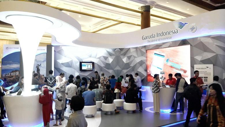 Suasana pameran wisata GATF 2016 (Kurnia/detikTravel)