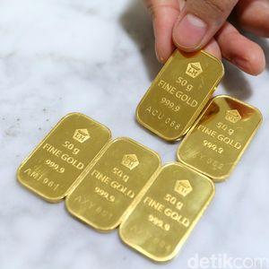 Harga Emas Turun Seceng Jadi Rp 751.000/Gram