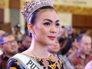 Kezia Warouw Pakai Gaun Bertabur Kristal Seberat 10 Kg di Miss Universe 2016