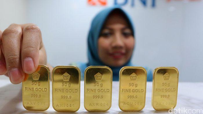 Awal Tahun Emas Antam Dijual Rp 665000gram