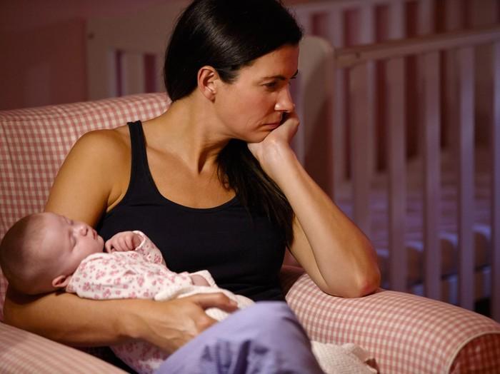 Foto: Ilustrasi ibu depresi (thinkstock)