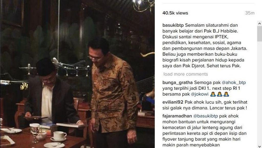 Ahok dan Djarot Temui Habibie, Minta Masukan Soal IPTEK untuk Jakarta