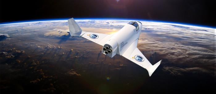 Pesawat Lynx untuk wisata luar angkasa milik XCOR. Masih dalam percobaan.