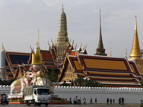 Grand Palace Bangkok yang akan menjadi persemayaman Raja Bhumibol