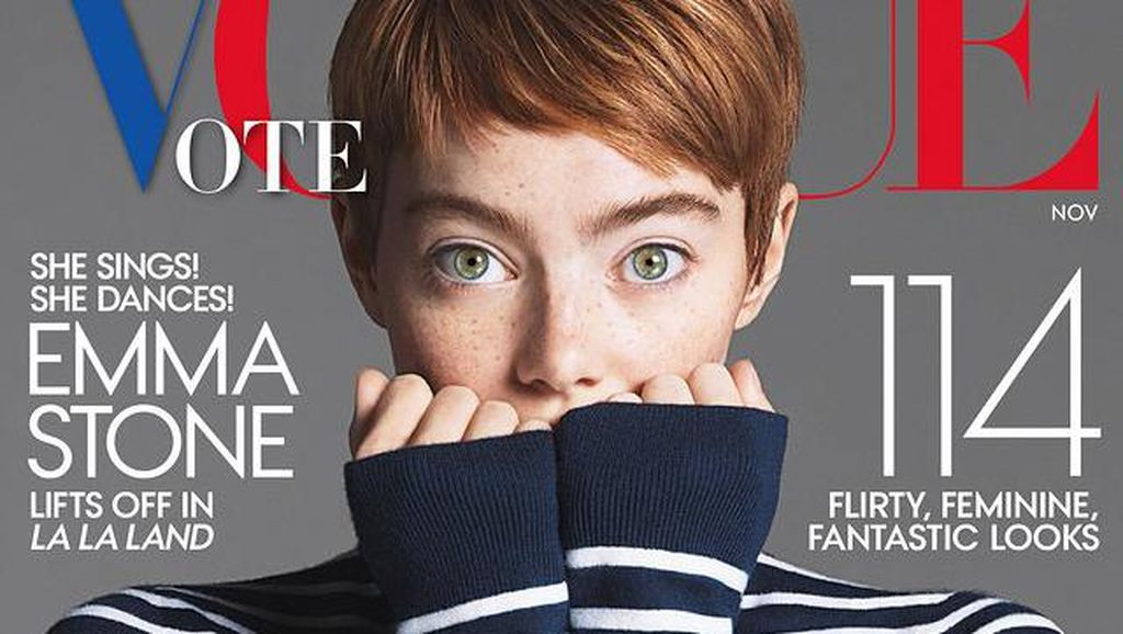 Emma Stone Pangkas Rambut Jadi Pixie di Vogue