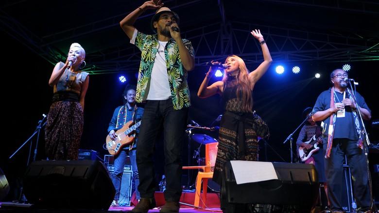 Foto: Penampilan musisi di festival jazz (Agung Pambudhy/detikTravel)