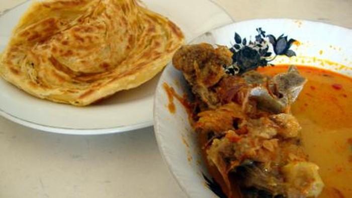 roti cane kari kambing khas Aceh