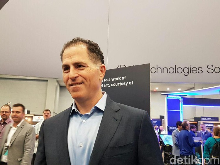 Michael Dell CEO Dell Technologies, di ajang Dell EMC World 2016.