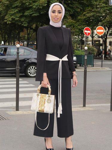 Foto: 7 Gaya Elegan dengan Hijab ala Fashionista Kuwait Fatema Al Awadhi