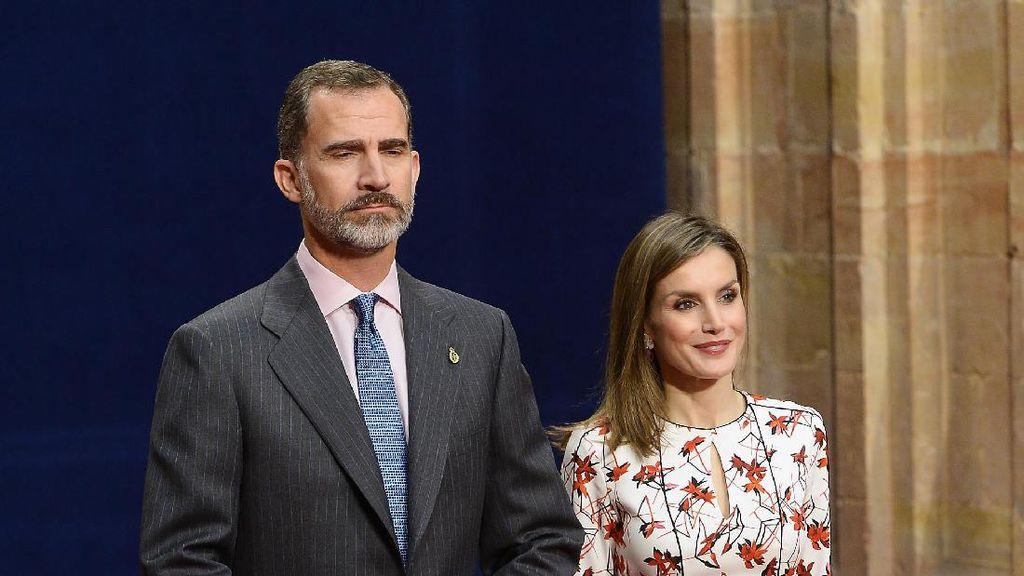 Sama-sama Bergaun Putih Merah, Ratu Letizia Terlihat Mirip Kate Middleton