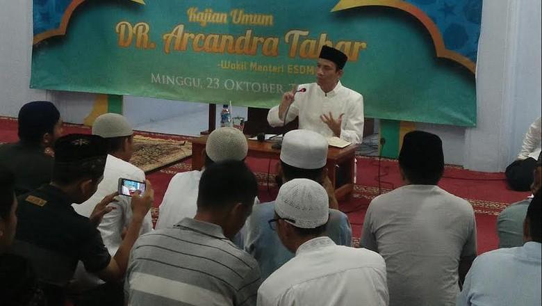 Muncul di Masjid Akamigas Cepu, Wamen Arcandra Beri Ceramah Maghrib