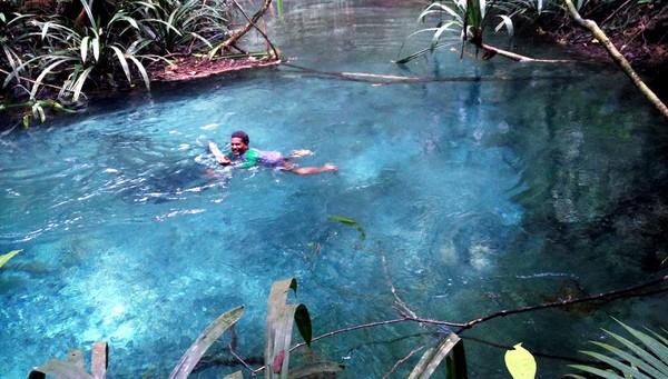 Media asal Inggris, The Sun pernah mengulas tentang kalibiru di tahun 2018 lalu. Mereka menulis Kalibiru sebagai Beautiful Turqoise River in Indonesia shines so bright it looks like it has underwater lighting (Wahyu Setyo Widodo/detikcom)