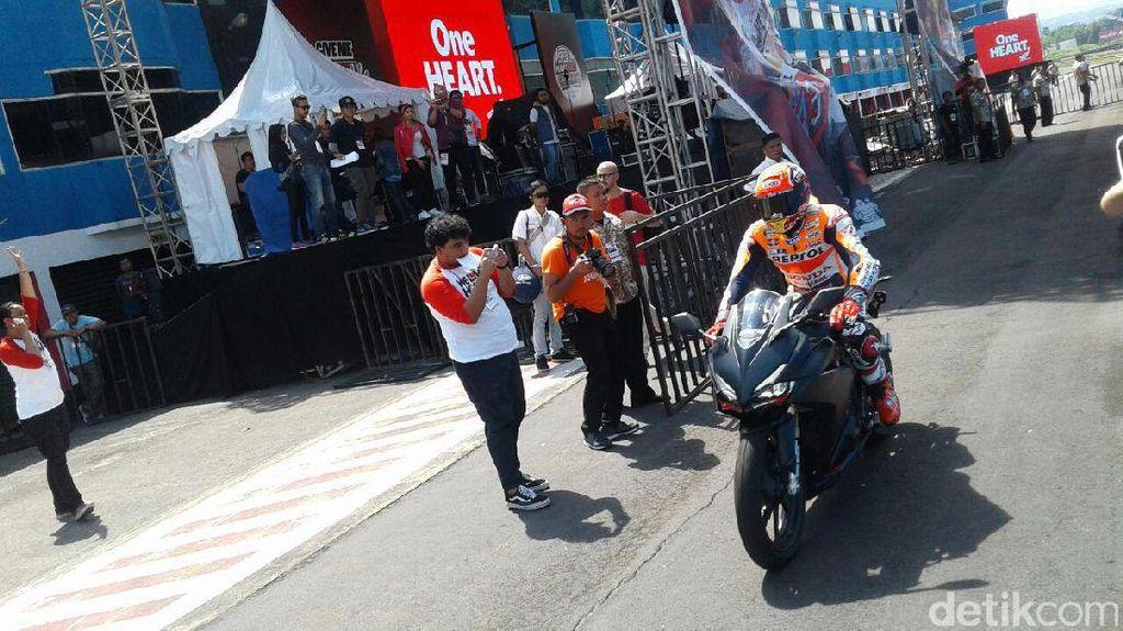 Marc Marquez Jajal Honda CBR250RR di Sentul