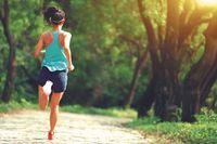 Olahraga jogging.