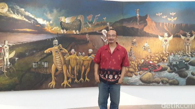 Heri Dono Boyong Karya Seni 'Smiling Angels from the Sky' ke Hong Kong