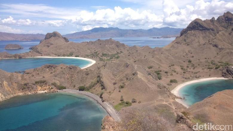 Pulau Padar, salah satu tujuan wisata di Labuan Bajo (Afif Farhan/detikcom)