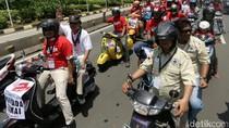 Pemotor Masuk ke Jalan MH Thamrin saat Pawai Pilgub DKI, Ini Kata Polisi