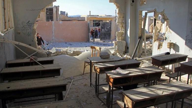 Gempuran Rusia di Idlib Suriah Tewaskan 9 Warga Termasuk 5 Anak