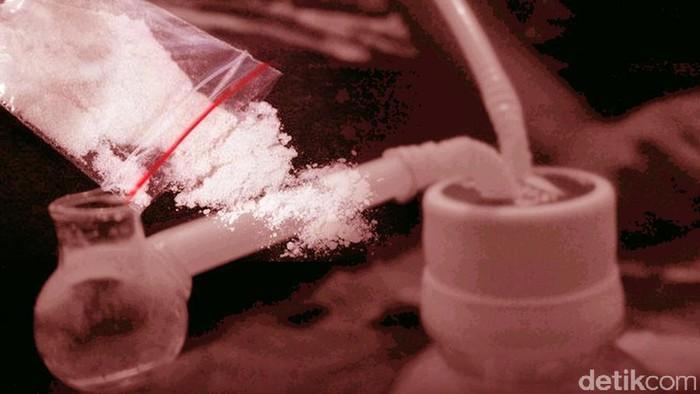 Ilustrasi narkoba, sabu putau ganja