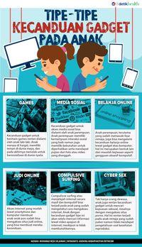 Infografis: Perlu Tahu, Tipe-tipe Kecanduan Gadget yang Bisa Dialami Anak