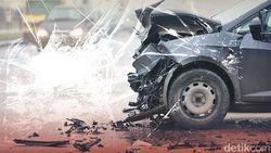 Mobil Kecelakaan di Tol Halim Arah Cikampek