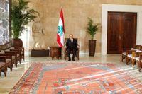 Presiden baru Lebanon Michel Aoun di Kantor Presiden