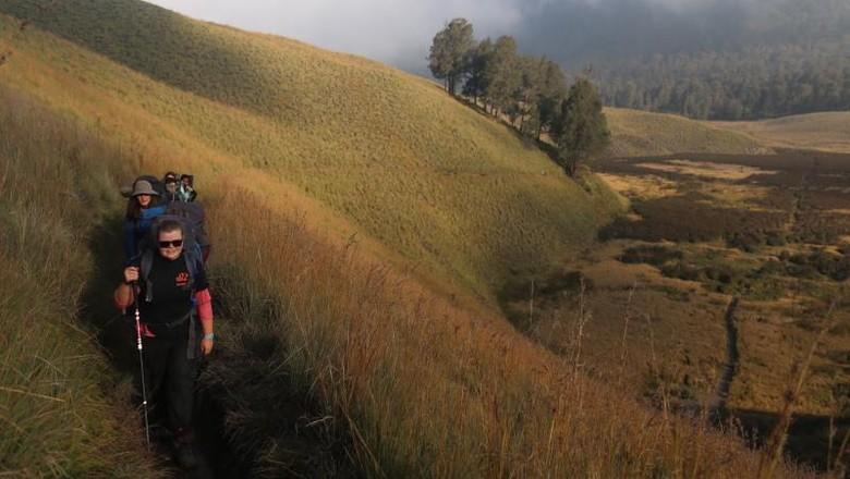 Foto: Mendaki Gunung Semeru (Andik Setiawan/dTraveler)