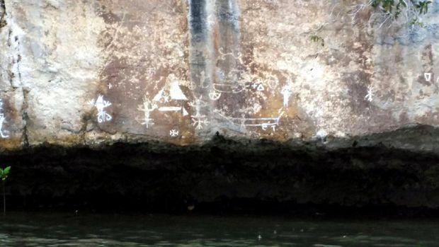 Lukisan Purba di Teluk Kabui, Raja Ampat