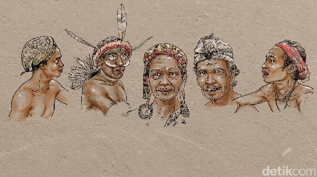 Orang asli Indonesia, sebelum kedatangan agama. (edy/detikcom)