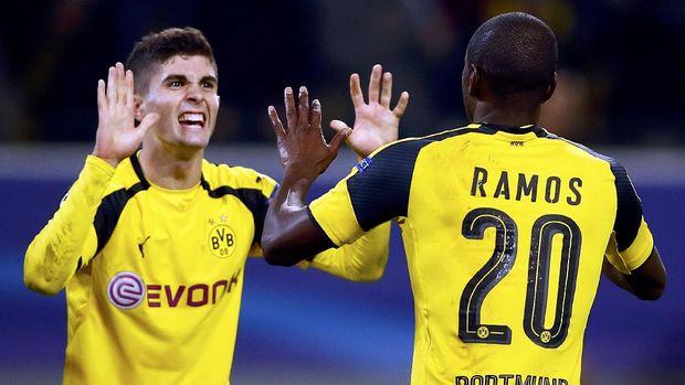Pulisic menjadi bintang kemenangan Dortmund.