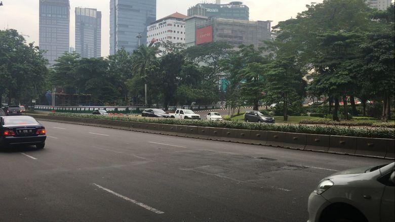 Jelang Demo Depan Istana Lalin Di Sekitar Sudirman Thamrin Lengang