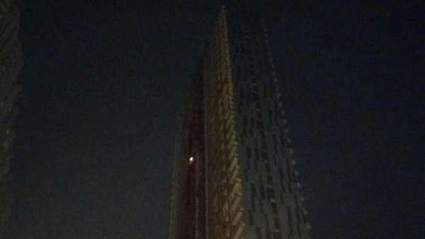 Api yang Membakar Apartemen Neo Soho Tampak Sudah Mulai Padam