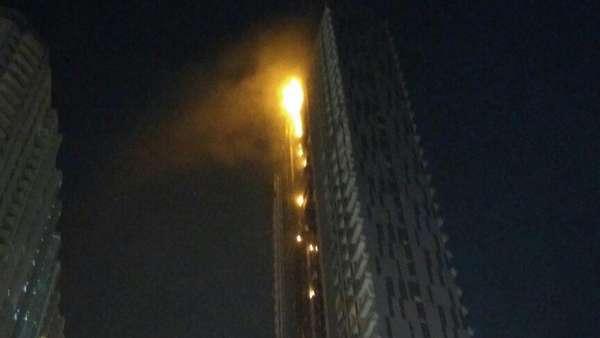 1 Karyawan Shock dan Pingsan Akibat Kebakaran Apartemen Neo Soho