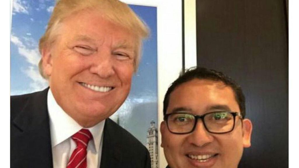 Pamer Foto Selfie dengan Trump, Fadli Zon: Congratulation!