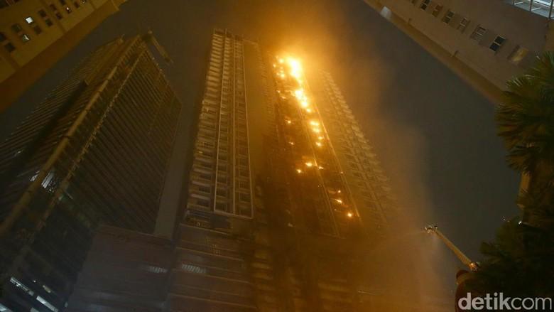 Begini Penampakan Kebakaran Apartemen Neo Soho