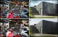 Penggunaan efek HDR pada foto model (portrait) dan arsitektur.