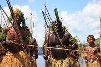Suku Dani yang terkenal dengan tari perang (Sastri/detikTravel)