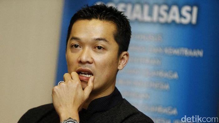 Taufik Hidayat, ketua umum PB SGS PLN Bandung yang juga mantan pebulutangkis nasional. (Rengga Sancaya/detikSport)