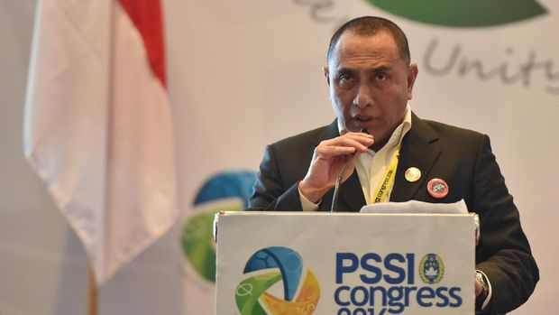 Edy Rahmayadi memilih mundur dari jabatan Ketua PSSI pada Kongres Tahunan PSSI Januari 2019. (