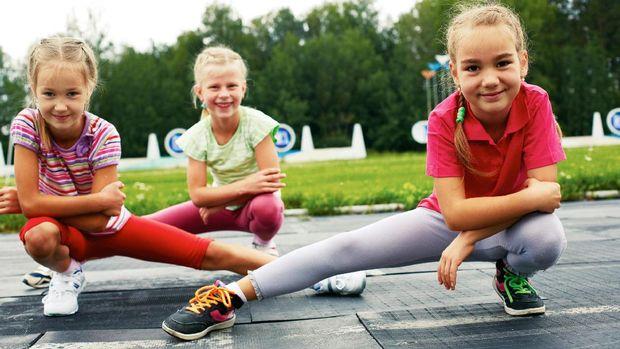 Ilustrasi aktivitas fisik anak
