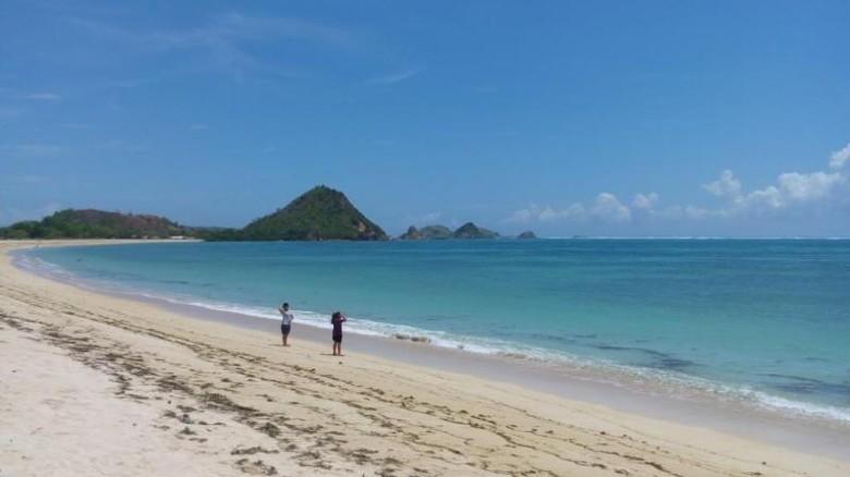 Pantai Kuta, spot favorit di Mandalika (Afif/detikTravel)